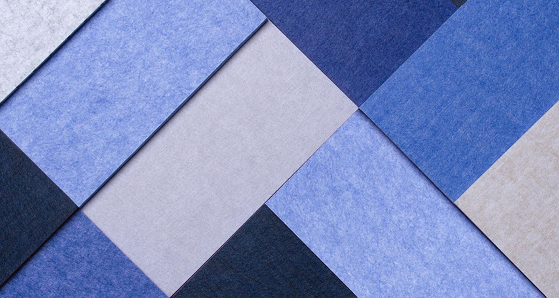 ReFelt PET Felt Acoustic Panels Detail Blues