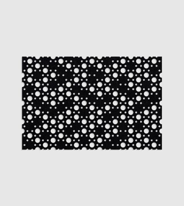 ReFelt PET Felt Acoustic Patterned Tileable Panel Dots Black