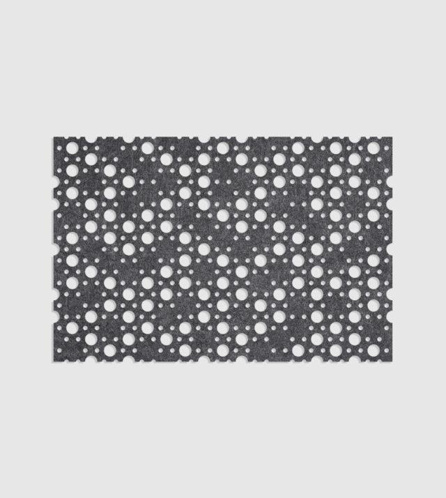 ReFelt PET Felt Acoustic Patterned Tileable Panel Dots Dark Grey