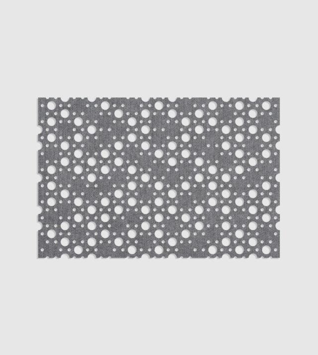 ReFelt PET Felt Acoustic Patterned Tileable Panel Dots Grey