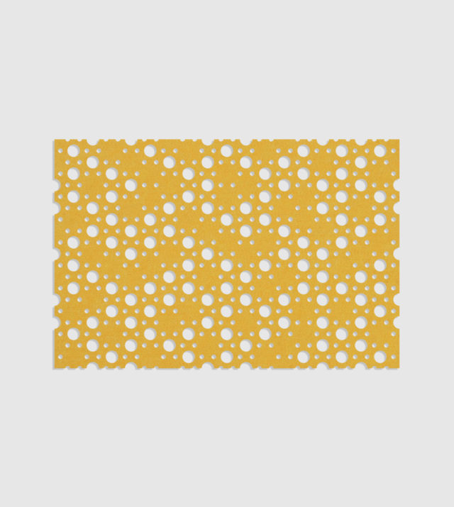 ReFelt PET Felt Acoustic Patterned Tileable Panel Dots Yellow