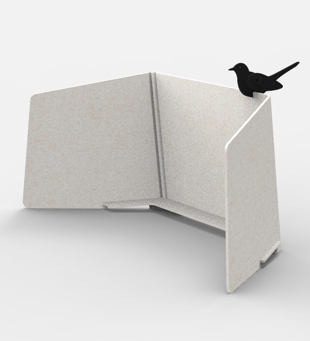 ReFelt Workplace Divider PET Felt - beige