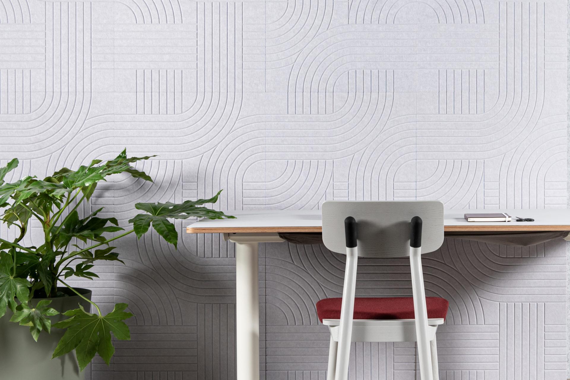 ReFelt Streets acoustic PET Felt v-cut panel 120x60 1
