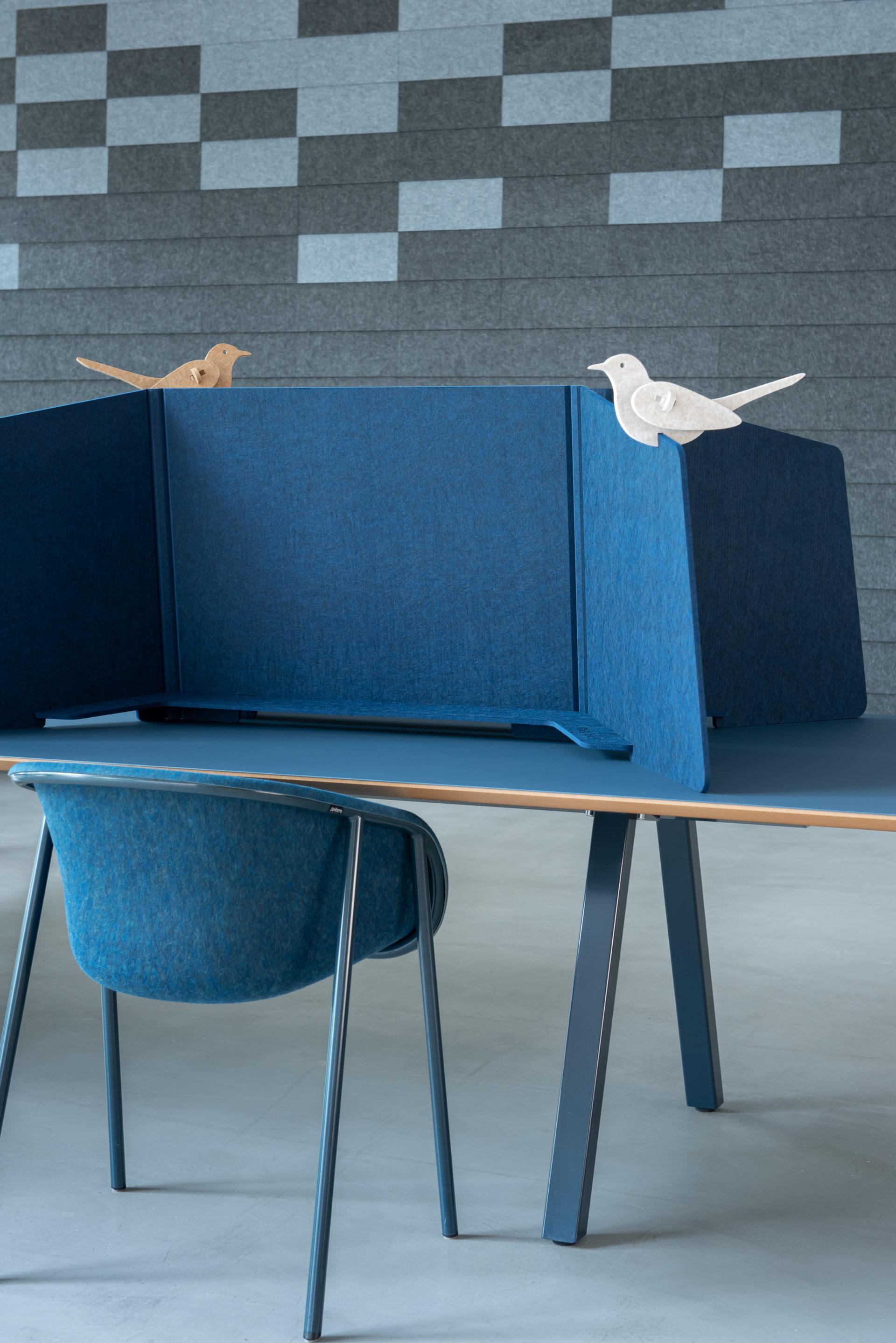 ReFelt PET Felt Workplace Divider 1.5m blue 1