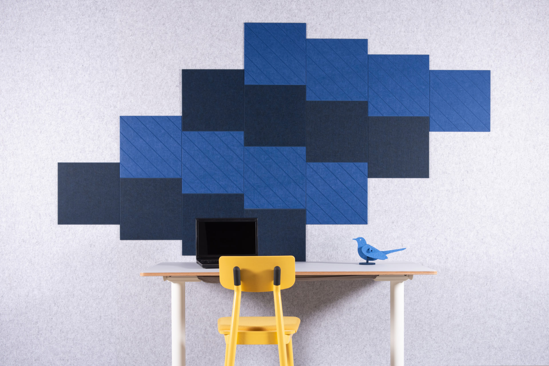 ReFelt PET Felt Diagonal panels for home office