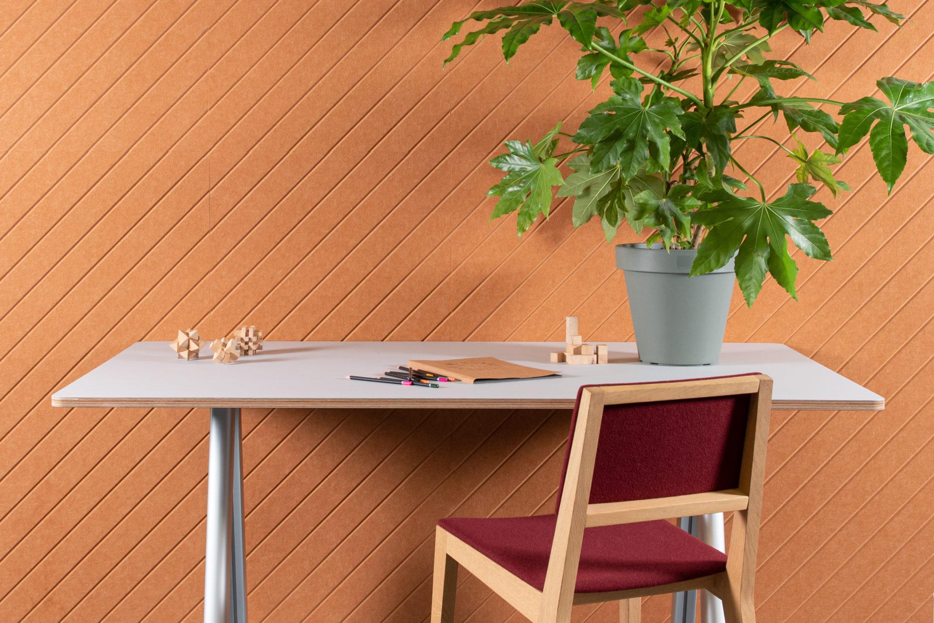 ReFelt - acoustic PET Felt panels Diagonal office