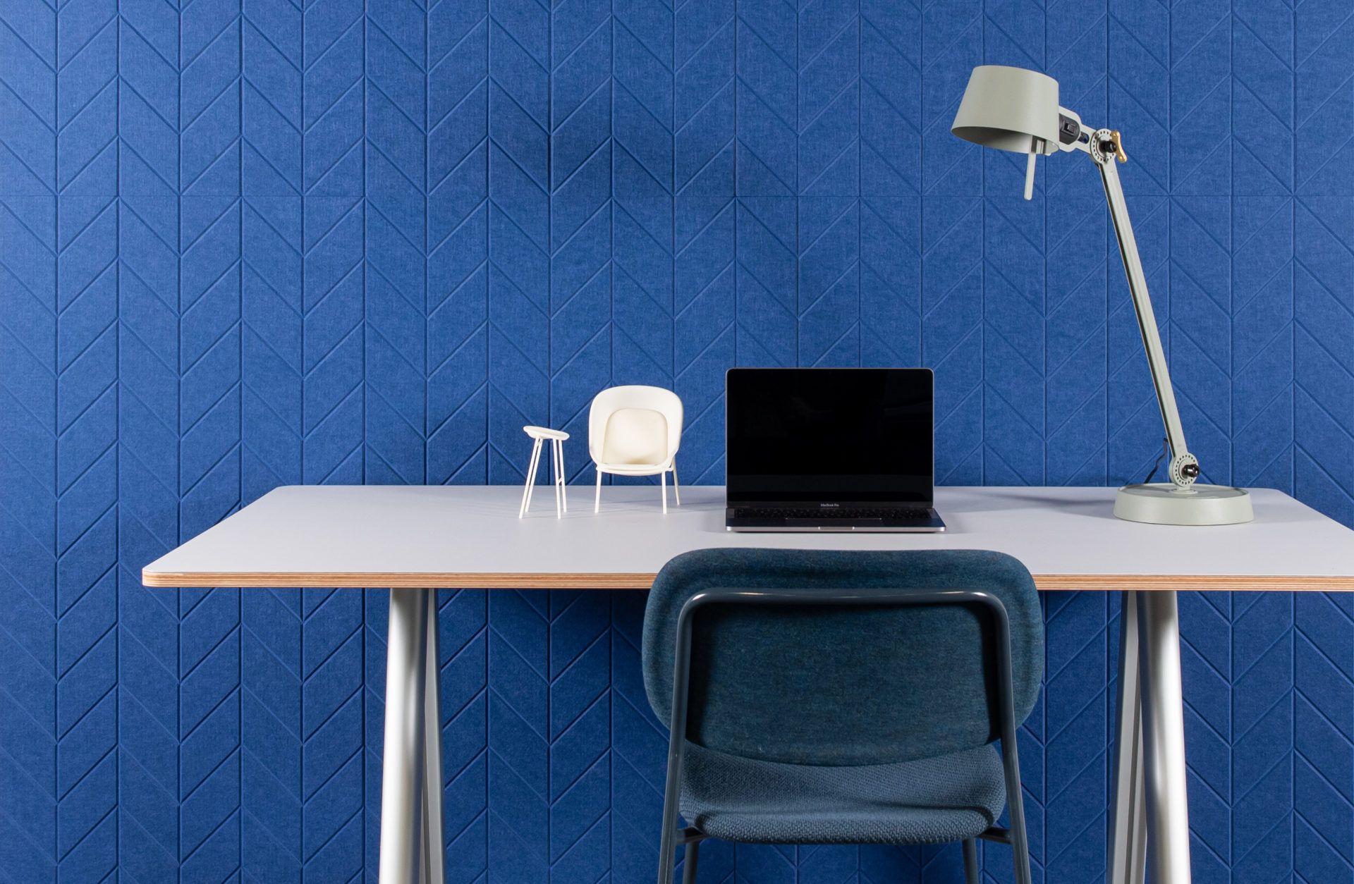 ReFelt - acoustic PET Felt panels Fishbone office 2